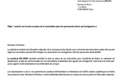 SA courrier Recteur 220421: vaccination ADM