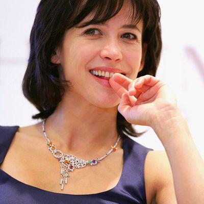 Sophie Marceau à Séoul le 11 février 2009. Campagne pour Chaumet