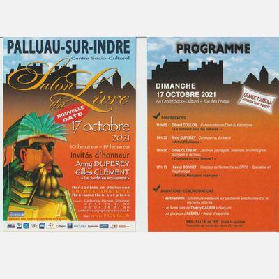 LA BRÈVE DU 12 octobre 2021, le salon du livre de Palluau sur Indre