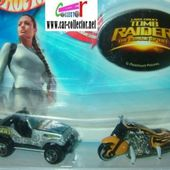 TOMB RAIDER HOT WHEELS LARA CROFT JEEP CJ7 + MOTO SCORCHIN SCOOTER - car-collector.net