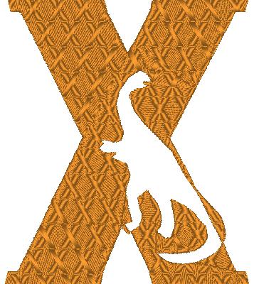 ABC dinosaure, la lettre X