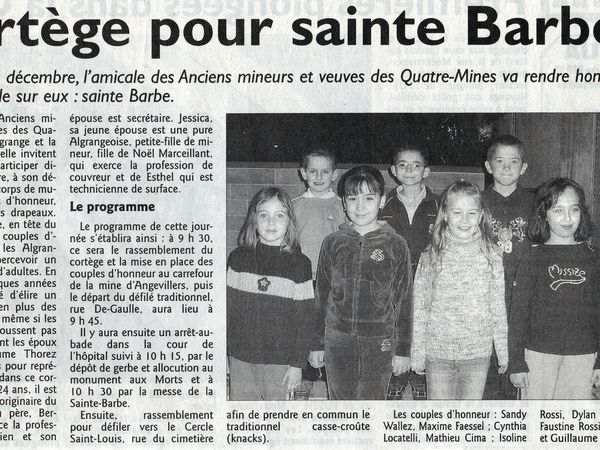 Sainte Barbe des Mineurs d'Algrange en 2005