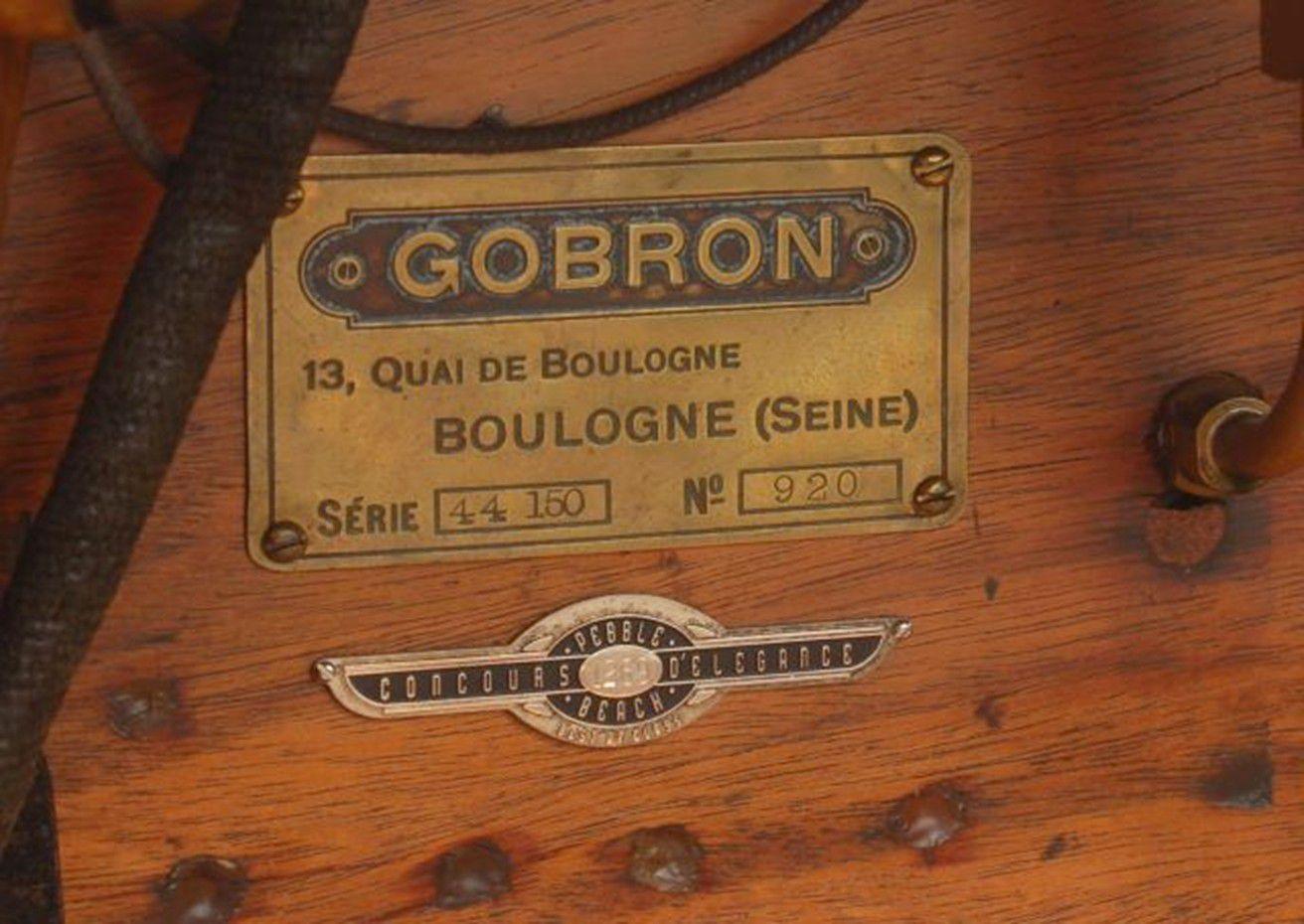 VOITURES DE LEGENDE (1240) : GOBRON-BRILLIE  12 CV ROTHSCHILD SKIFF TOURER - 1912