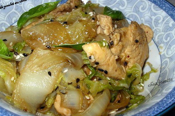 émincé de poulet au chou chinois
