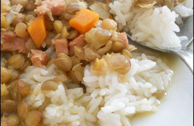 lentille lardon/carotte
