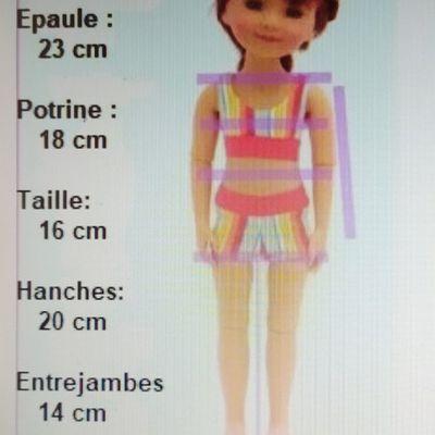 Mensurations des poupées Fashion Friends de Ruby Red