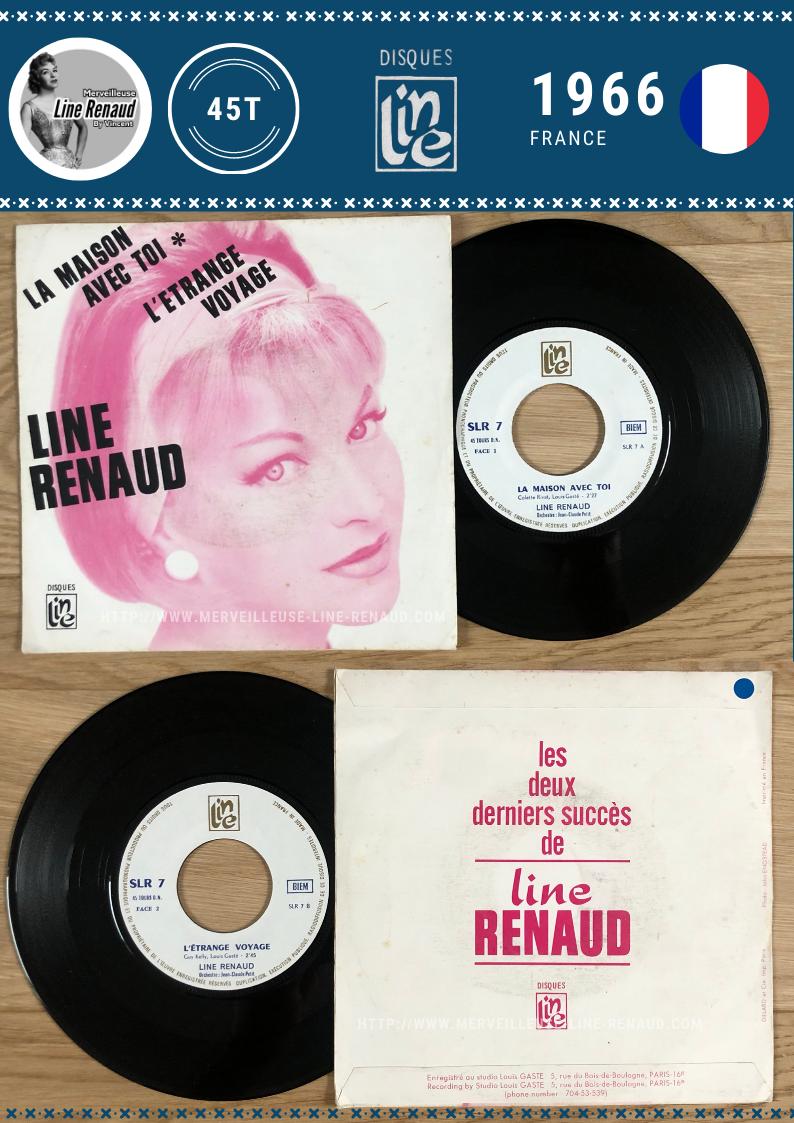 45 TOURS: 1966 Disque Line - SLR 7 - Line Renaud