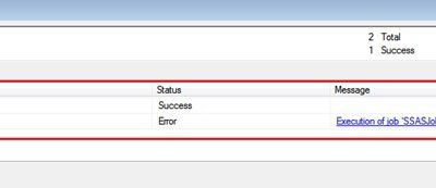 Create a Job in SQL Server agent to run our XMLA query.