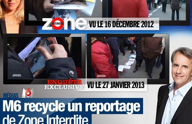 M6 recycle un reportage de Zone Interdite pour Enquête Exclusive !