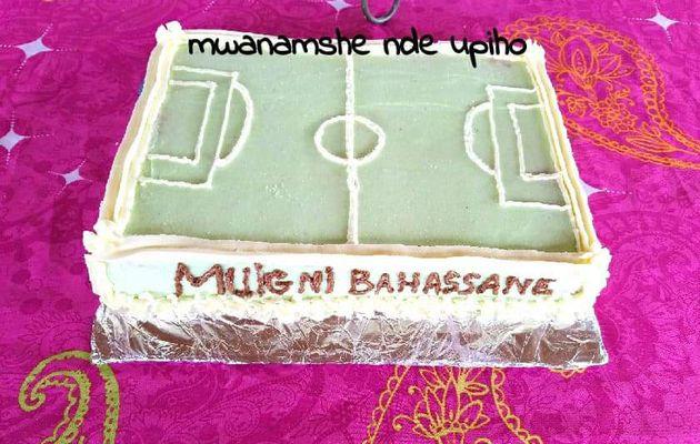 Gâteau de terrain de foot