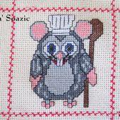 Plaid Chouette brodée 80 : Chouette Ratatouille - Chez Mamigoz