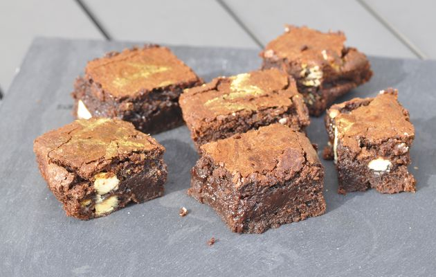 Brownies au pépites de chocolat blanc
