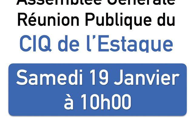 Réunion Publique CIQ Estaque - Samedi 19 Janvier 2019