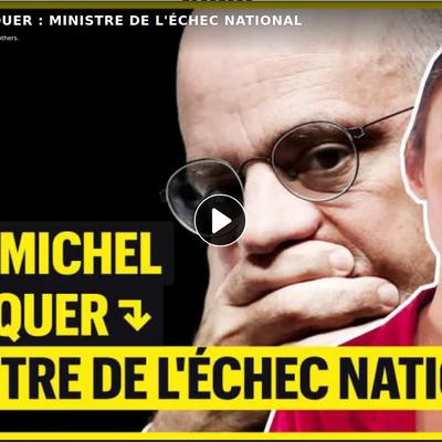 Blanquer : ministre de l'échec national