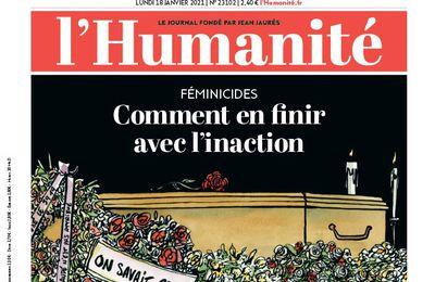 A la une de l'Humanité (18-01-21)