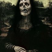 Mona Lisa Zombie - this smile is not nearly as mysterious. This one just tasted brains! | More Zombie Stuff in 2019 | Zombie art, Horror art, Creepy art