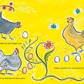 L'art populaire consacré dans l'album La poule qui ne pondait pas de Julie Paschkis (c)Le Genévrier