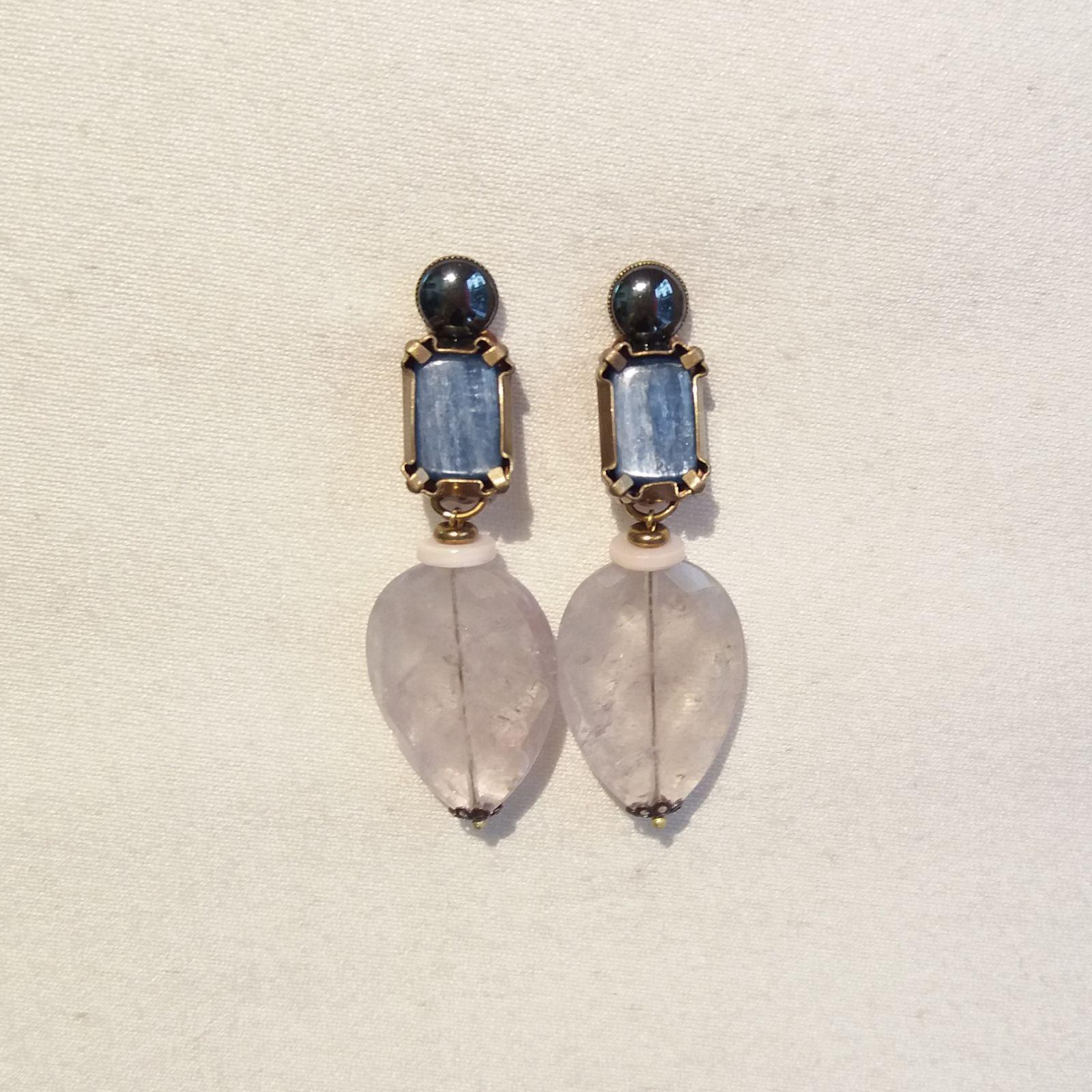 Boucles d'oreilles clips. Bijoux de créateur. Paris.