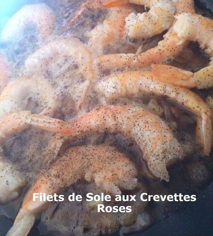 Filets de Sole aux Crevettes Roses (cuisson au four)