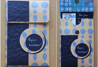 Cartes, pochette et enveloppe