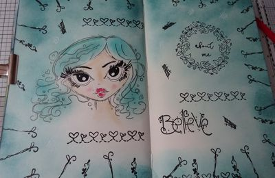 [Art Journal] PolkaDoodles et Jane Davenport
