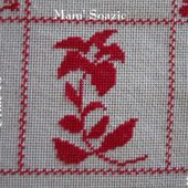 SAL : Plaid Broderie Rouge... Grille 73/ C13 - Chez Mamigoz