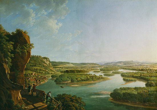 Vue depuis l'Isteiner Klotz –  Peter Birmann, 1819