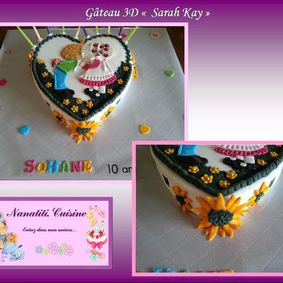 """Gâteau 3D """" Sarah Kay"""""""
