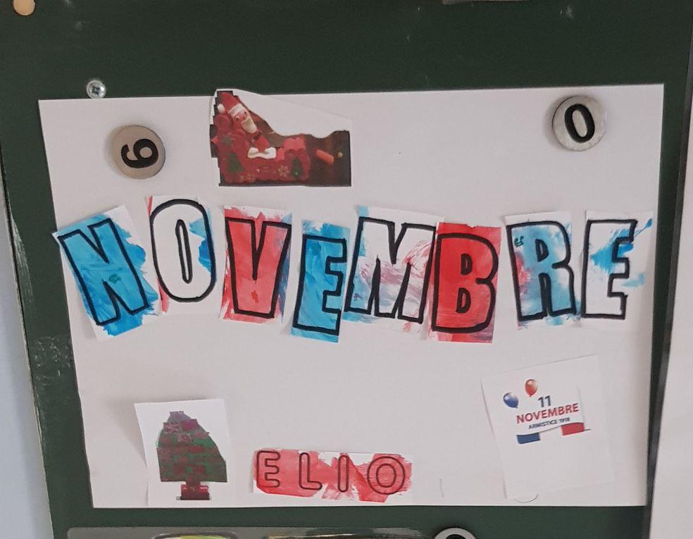 Novembre 2020 ...le calendrier de l avent : elio , charly , tom ,