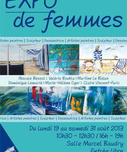 Le Pouliguen - Expo de Femmes, du lundi 19 août au samedi 31 août 2013