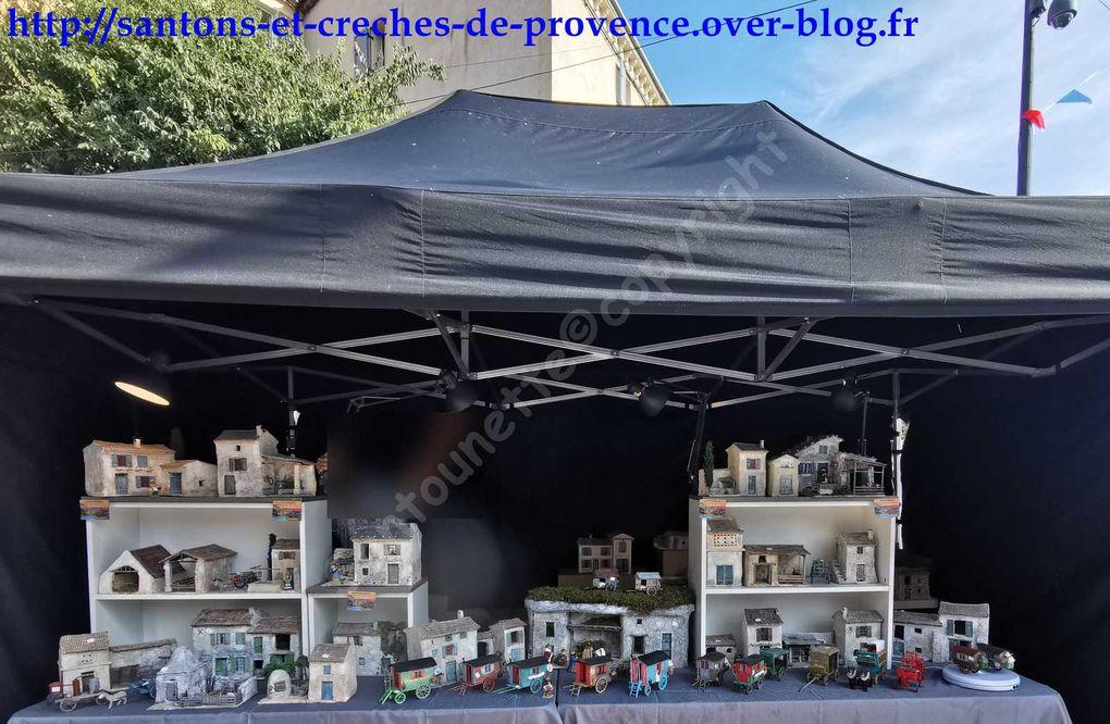 Le salon des santonniers édition 2020 de Roquebrune Sur Argens: Canet crèches provençales, les roulottes de Lucas, le Monde miniature de JB, les santons de Yannick Fusier (1ère partie/2).