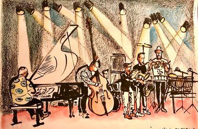 Florian Pelissier Quintet, Arthur H, Anthony Joseph,  Djeuhdjoah & Lieutenant Nicholson, croqués par Ivan Sigg