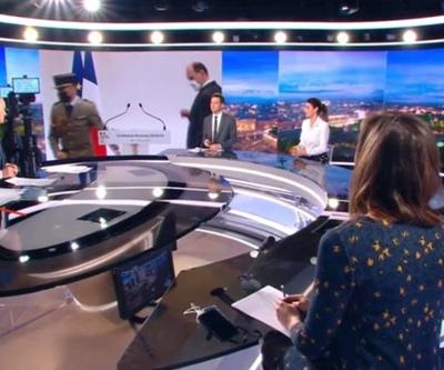 #FRANCE : Si quelqu'un peut nous expliquer pourquoi c'est un #militaire qui a préparé la mise en scène de #Castex lors de sa dernière allocution...