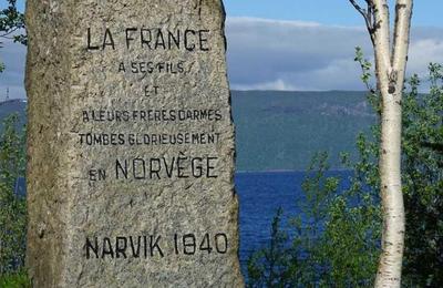 Le cimetière militaire français de Narvik.
