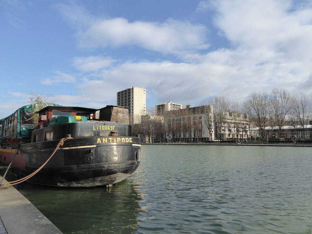 Fin de la promenade par les quais du canal de l'Ourcq, la rotonde...