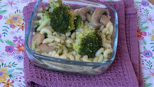 One Pot Pasta au brocoli et aux champignons (recette de Laurent Mariotte)