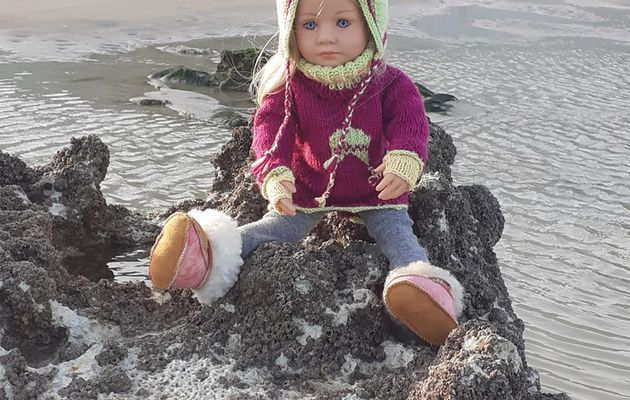 Mathilde à la plage