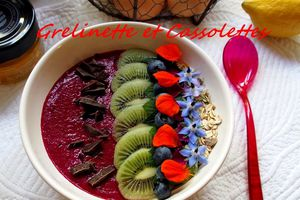 Smoothie Bowl fleuri