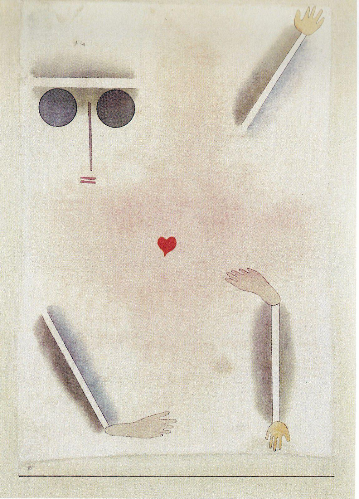 Klee, A toute sa tête, bon pied, la main et du coeur