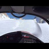 Glacier Mousquetaire - Atterrissage au Tour (en haut)