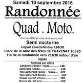 Rando quad-moto à Chavenat (16), le 10 septembre 2016 - Randonnée Enduro du Sud Ouest